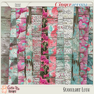 Succulent Love Wood Papers