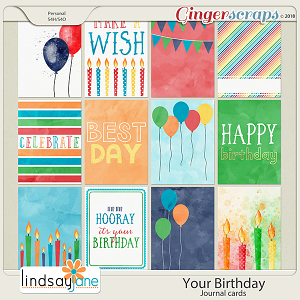 Your Birthday Journal Cards by Lindsay Jane