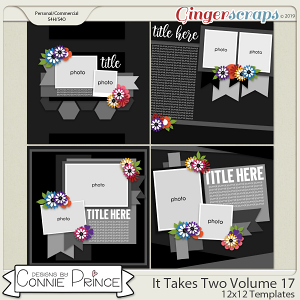 It Takes Two Volume 17 - 12x12 Temps (CU Ok) by Connie Prince