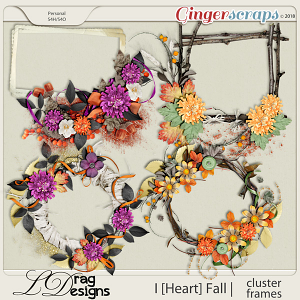 I [Heart] Fall: Cluster Frames by LDragDesigns