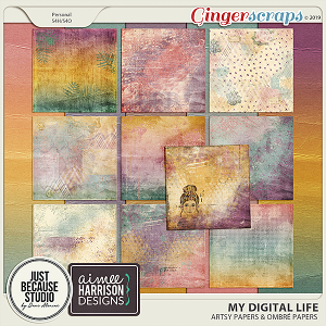 My Digital Life Artsy Papers by JB Studio and Aimee Harrison Designs