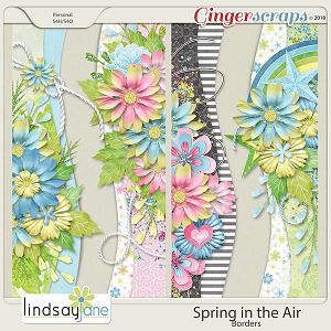 Spring in the Air Borders by Lindsay Jane