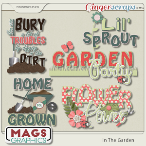 In The Garden WORD ART