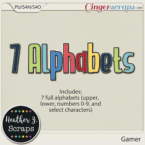 Gamer ALPHABETS by Heather Z Scraps