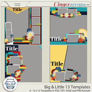 Big & Little 13 Templates by Miss Fish