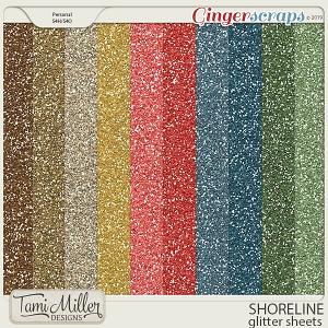 Shoreline Glitter Sheets by Tami Miller Designs