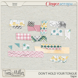 Don't Hold Your Tongue Washi Tape by Tami Miller Designs