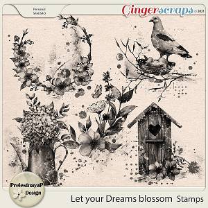 Let your Dreams blossom Stamps