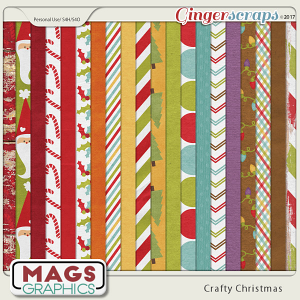 Crafty Christmas PAPERS by MagsGraphics