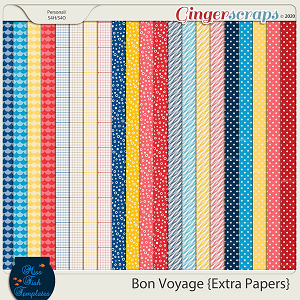 Bon Voyage Extra Papers by Miss Fish