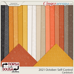 2021 October: Self-Control Cardstock by North Meets South Studios