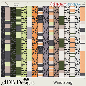 Wind Song Blanket Pattern Papers by ADB Designs
