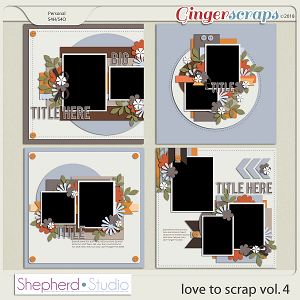 Love to Scrap Volume 4 Templates by Shepherd Studio