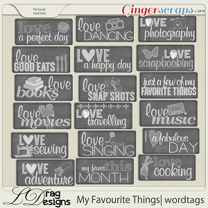 My Favourite Things: Wordtags by LDragDesigns