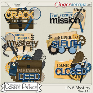 It's A Mystery - Word Art Pack by Connie Prince