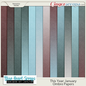 This Year: January Ombre Paper Pack