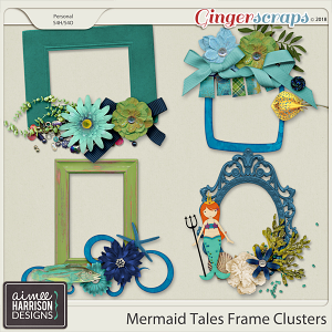 Mermaid Tales Frame Clusters by Aimee Harrison