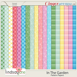 In The Garden Pattern Papers by Lindsay Jane