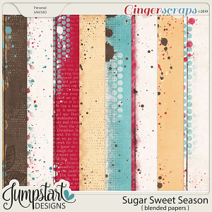 Sugar Sweet Season {Blended Papers} by Jumpstart Designs