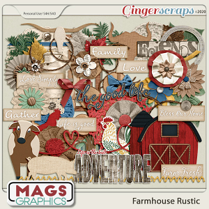 Farmhouse Rustic ELEMENTS by MagsGraphics