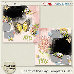 Charm of the Day Templates Set3
