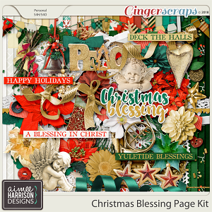 Christmas Blessing Page Kit by Aimee Harrison
