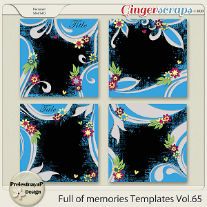 Full of memories Templates Vol.65