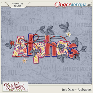 July Daze Alphabets
