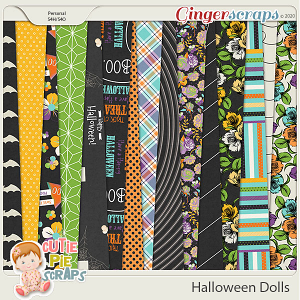 Halloween Dolls-Papers