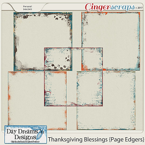 Thanksgiving Blessings {Edgers} by Day Dreams 'n Designs
