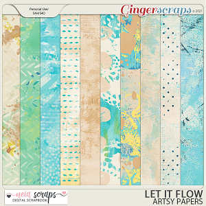 Let it Flow - Artsy Papers - by Neia Scraps