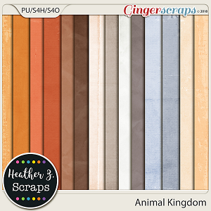 Animal Kingdom SOLID PAPERS by Heather Z Scraps