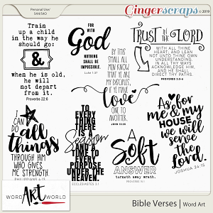 Bible Verses Word Art