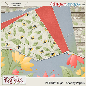 Polkadot Bugs Shabby Papers