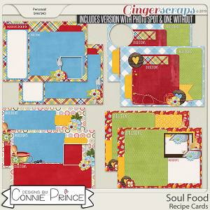 Soul Food -  Recipe Cards by Connie Prince