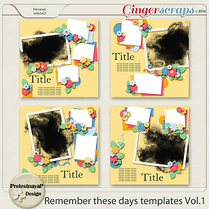 Remember these days Templates Vol.1