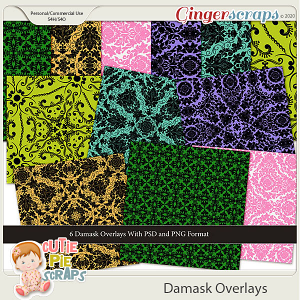 CU Damask Overlays/ Papers