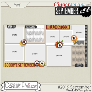 #2019 September - Week 40 Template Pack (CU Ok) by Connie Prince
