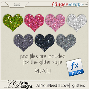All You Need Is Love: Glitterstyles by LDragDesigns