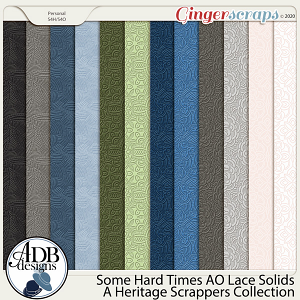 Some Hard Times AO Lace Embossed Solids by ADB Designs