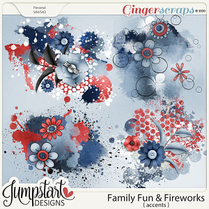 Family Fun & Fireworks {Accents} by Jumpstart Designs