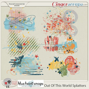 Out of This World Splatters by Luv Ewe Designs and Blue Heart Scraps