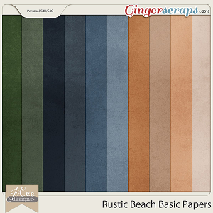 Rustic Beach Basic Papers by JoCee Designs