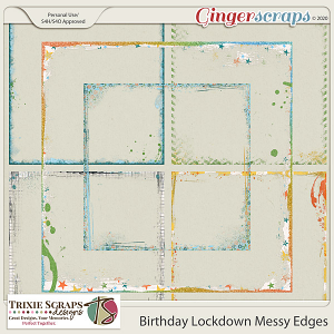 Birthday Lockdown Messy Edges by Trixie Scraps Designs
