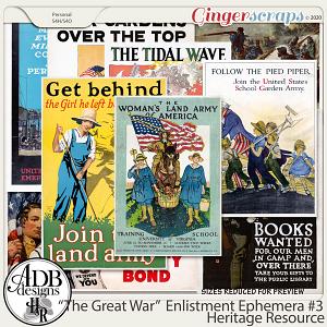 Heritage Resource Enlistment Ephemera Set 03 by ADB Designs