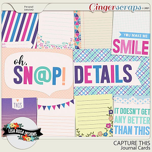 Capture This - Journal Cards by Lisa Rosa Designs
