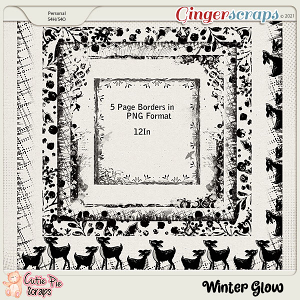 Winter Glow-Page Borders