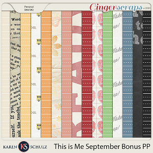 This is Me September Bonus Papers by Karen Schulz