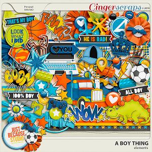 A Boy Thing Elements by JB Studio
