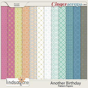 Another Birthday Pattern Papers by Lindsay Jane
